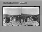 view [People in ethnic costumes (?) : stereo photonegative.] digital asset number 1