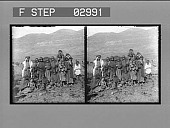 view [Exterior group portrait in Palestine. Stereo photonegative.] digital asset number 1
