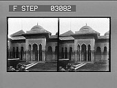 view Entrance to Court of Justice, the Alhambra. [Active no. 11103 : stereo photonegative.] digital asset: Entrance to Court of Justice, the Alhambra. [Active no. 11103 : stereo photonegative.]
