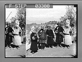view Tibetan devil dancers, who guarantee to drive away the evil one, Darjeeling. [Active no.14098 : photonegative.] digital asset: Tibetan devil dancers, who guarantee to drive away the evil one, Darjeeling. [Active no.14098 : photonegative.]