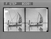 view A Hindu boat with its tattered sail, on the sacred river Ganges. [Active no.14101 : photonegative.] digital asset: A Hindu boat with its tattered sail, on the sacred river Ganges. [Active no.14101 : photonegative.]
