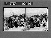 view Tibetans from the Himalaya Mountains, Darjeeling. [Active no. 14121 : stereo photonegative.] digital asset: Tibetans from the Himalaya Mountains, Darjeeling. [Active no. 14121 : stereo photonegative.]