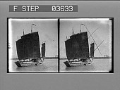 view In the harbor of Hong Kong--a Chinese junk passing. [Active no. 4451 ; stereo photonegative.] digital asset: In the harbor of Hong Kong--a Chinese junk passing. [Active no. 4451 ; stereo photonegative.]