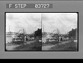 view [Homes in a fishing village in Philippine Islands.] Stereo photonegative digital asset: [Homes in a fishing village in Philippine Islands.] Stereo photonegative.