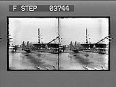 view General view of the Suspension Bridge over Pasig River, Manila. [Active no.3538] : [photonegative.] digital asset: General view of the Suspension Bridge over Pasig River, Manila. [Active no.3538] : [photonegative.]