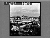 view [Experimental Gardens, Trail and Government Building. Active no.8616 non-stereo photonegative.] digital asset: [Experimental Gardens, Trail and Government Building. Active no.8616 non-stereo photonegative.]