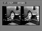 view [Woman being given foot bath by maid in bathroom. Stereo photonegative.] digital asset: [Woman being given foot bath by maid in bathroom. Stereo photonegative.]