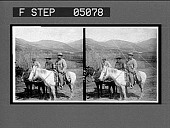 view President Roosevelt and his fellow hunters, Dr. Chapman and Mr. Stewart. [Caption no. 9938 : stereoscopic interpositive.] digital asset: President Roosevelt and his fellow hunters, Dr. Chapman and Mr. Stewart. [Caption no. 9938 : stereoscopic interpositive.]