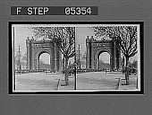 view Arch of Triumph from the Paseo San Juan. 10884 Interpositive digital asset: Arch of Triumph from the Paseo San Juan. 10884 Interpositive.
