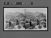 view Looking West over Carthagena [Cartagena?], old Moorish castle at right. [Active no. 10885 : stereo interpositive.] digital asset: Looking West over Carthagena [Cartagena?], old Moorish castle at right. [Active no. 10885 : stereo interpositive.]