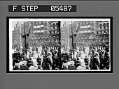 view Crowds on the Calle de Alcala after the procession has passed. Active no. 11116 : stereoscopic interpositive digital asset: Crowds on the Calle de Alcala after the procession has passed. Active no. 11116 : stereoscopic interpositive.