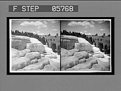 view Beautiful Cleopatra Terrace, Mammoth Hot Springs. [Active No. 12011 : stereo interpositive,] digital asset: Beautiful Cleopatra Terrace, Mammoth Hot Springs. [Active No. 12011 : stereo interpositive,] 1904.