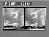 view Sunset eruption of Old Faithful. 12059 interpositive digital asset: Sunset eruption of Old Faithful. 12059 interpositive 1904.