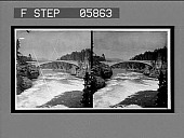 view New Concrete Steel Bridge over the Rapids of the Yellowstone River. [Active no. 12086 : stereo interpositive,] digital asset: New Concrete Steel Bridge over the Rapids of the Yellowstone River. [Active no. 12086 : stereo interpositive,] 1904.
