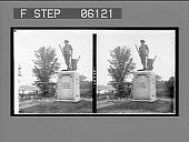 view The Minute Man Statue, near the Old Bridge, Concord. [Active no. 12838: stereo interpositive] digital asset: The Minute Man Statue, near the Old Bridge, Concord. [Active no. 12838: stereo interpositive].