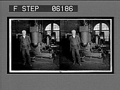 view Thomas Edison and his original dynamo, Edison Works, Orange, N.J. 13002 interpositive digital asset: Thomas Edison and his original dynamo, Edison Works, Orange, N.J. 13002 interpositive.