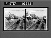 view Famous railway and steel works; Pa. R.R. and Homestead Steel Works. [Active no. 13113 : stereo interpositive,] digital asset: Famous railway and steel works; Pa. R.R. and Homestead Steel Works. [Active no. 13113 : stereo interpositive,] 1907.