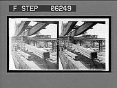 view Loading steel beams into cars--crane lifting 10 tons. [Active no. 13146 : stereo interpositive,] digital asset: Loading steel beams into cars--crane lifting 10 tons. [Active no. 13146 : stereo interpositive,] 1907.