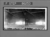 """view The """"hot bed"""" where steel rails are cooled after being rolled, rail mills, Braddock, Pa. [Active no. 13150 : stereo interpositive,] digital asset: The """"hot bed"""" where steel rails are cooled after being rolled, rail mills, Braddock, Pa. [Active no. 13150 : stereo interpositive,] 1907."""