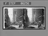 view Pittsburg's [sic] busiest thoroughfare, Fifth Ave. from Smithfield St. [Active no. 13201 : black-and-white stereo interpositive,] digital asset: Pittsburg's [sic] busiest thoroughfare, Fifth Ave. from Smithfield St. [Active no. 13201 : black-and-white stereo interpositive,] 1906.