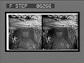 """view Coming out of a """"room"""" with a loaded car into the main tunnel of a coal mine. 13219 interpositive digital asset: Coming out of a """"room"""" with a loaded car into the main tunnel of a coal mine. 13219 interpositive 1906."""