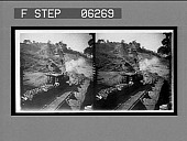 view A leaded coal train and the gravity incline at a coal mine. 13221 interpositive digital asset: A leaded coal train and the gravity incline at a coal mine. 13221 interpositive 1906.