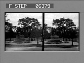 view [View from street of equestrian statue of William Tecumseh Sherman. Active no. 13621 : stereo interpositive.] digital asset: [View from street of equestrian statue of William Tecumseh Sherman. Active no. 13621 : stereo interpositive.]