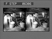 view A cotton gin where cotton is cleaned and separated from the seed. [Active no. 13802 : stereo interpositive.] digital asset: A cotton gin where cotton is cleaned and separated from the seed. [Active no. 13802 : stereo interpositive.]
