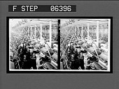 "view Carding room, laps (rolls) are put into ""silvers."" Active no. 13808. Stereo interpositive digital asset: Carding room, laps (rolls) are put into ""silvers."" Active no. 13808. Stereo interpositive, ca. 1909."