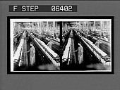 view Spinning room, 60,000 spindles, in the great White Oak Cotton Mills. Active no. 13812. Stereo interpositive digital asset: Spinning room, 60,000 spindles, in the great White Oak Cotton Mills. Active no. 13812. Stereo interpositive, ca. 1907-1909.