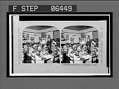 view One of the sewing classes of the Proximity and White Oak Cotton Mills. Stereo interpositive digital asset: One of the sewing classes of the Proximity and White Oak Cotton Mills. Stereo interpositive. [Copyright 1909.]