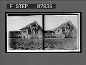 """view """"The Key to the Mediterranean""""--Gibraltar, showing highest point (1,396 ft.). 16881 Interpositive digital asset: """"The Key to the Mediterranean""""--Gibraltar, showing highest point (1,396 ft.). 16881 Interpositive."""