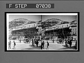 view Old Moorish Castle and Signal Hill from the town. [Active no. 16883 : stereo interpositive.] digital asset: Old Moorish Castle and Signal Hill from the town. [Active no. 16883 : stereo interpositive.]