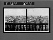 view [City view over balustrade. Active no. 17609 : stereo interpositive.] digital asset: [City view over balustrade. Active no. 17609 : stereo interpositive.]