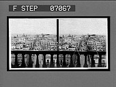 view [City view through balustrade. Active no. 17609 : stereo interpositive.] digital asset: [City view through balustrade. Active no. 17609 : stereo interpositive.]