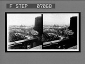 view [City view over balustrade. Active no. 17610 : stereo interpositive,] digital asset: [City view over balustrade. Active no. 17610 : stereo interpositive,] 1907.