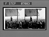 view President Roosevelt addressing the great throng before the reviewing stand, opening day. [Caption no. 18007 : stereo interpositive.] digital asset: President Roosevelt addressing the great throng before the reviewing stand, opening day. [Caption no. 18007 : stereo interpositive.]