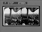view Vast crowds before the reviewing stand at the opening of the Jamestown Exposition. 18008 : stereo interpositive digital asset: Vast crowds before the reviewing stand at the opening of the Jamestown Exposition. 18008 : stereo interpositive.
