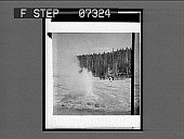 "view [Tourists view geyser in action. ""Western Trip C.W.W. '04"" on envelope. Active no. 291 : photonegative,] digital asset: [Tourists view geyser in action. ""Western Trip C.W.W. '04"" on envelope. Active no. 291 : photonegative,] 1904."