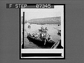 view [Men in several small boats. Active No. 55 : interpositive.] digital asset: [Men in several small boats. Active No. 55 : interpositive.]