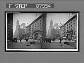 view [Street scene. O-1 [stereo interpositive.] digital asset: [Street scene. O-1 [stereo interpositive.]