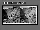 view [Rail line in canyon. Active no. O426 : stereo interpositive.] digital asset: [Rail line in canyon. Active no. O426 : stereo interpositive.]