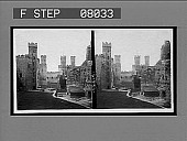 view [Castle with crenelated towers. Active no. 02038. Stereoscopic interpositive.] digital asset: [Castle with crenelated towers. Active no. 02038. Stereoscopic interpositive.]