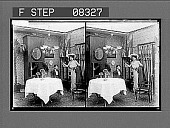 view [Action in home dining room.] 9 photonegative digital asset: [Action in home dining room.] 9 photonegative.