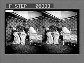 view [Informal group of college coeds in bedroom.] 14 photonegative digital asset: [Informal group of college coeds in bedroom.] 14 photonegative.