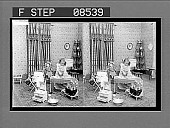 view (2) On Tuesday smoothly press 'em. [Active no. 276 : black-and-white stereo photonegative.] digital asset: (2) On Tuesday smoothly press 'em. [Active no. 276 : black-and-white stereo photonegative.]