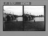 view [Bridge over wide river in city.] 399 photonegative digital asset: [Bridge over wide river in city.] 399 photonegative.
