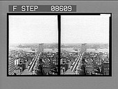 view [Long high view of Brooklyn Bridge with surrounding city areas.] 447 photonegative digital asset: [Long high view of Brooklyn Bridge with surrounding city areas.] 447 photonegative 1905.