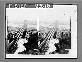 view Brooklyn Bridge from World Bldg. 447 photonegative digital asset: Brooklyn Bridge from World Bldg. 447 photonegative.