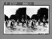 view Bicycle Parade, Central Park, New York, U.S.A. Copyright 1895 by Strohmeyer & Wyman. [Active no. 452 : stereo photonegative] digital asset: Bicycle Parade, Central Park, New York, U.S.A. Copyright 1895 by Strohmeyer & Wyman. [Active no. 452 : stereo photonegative], 1895.